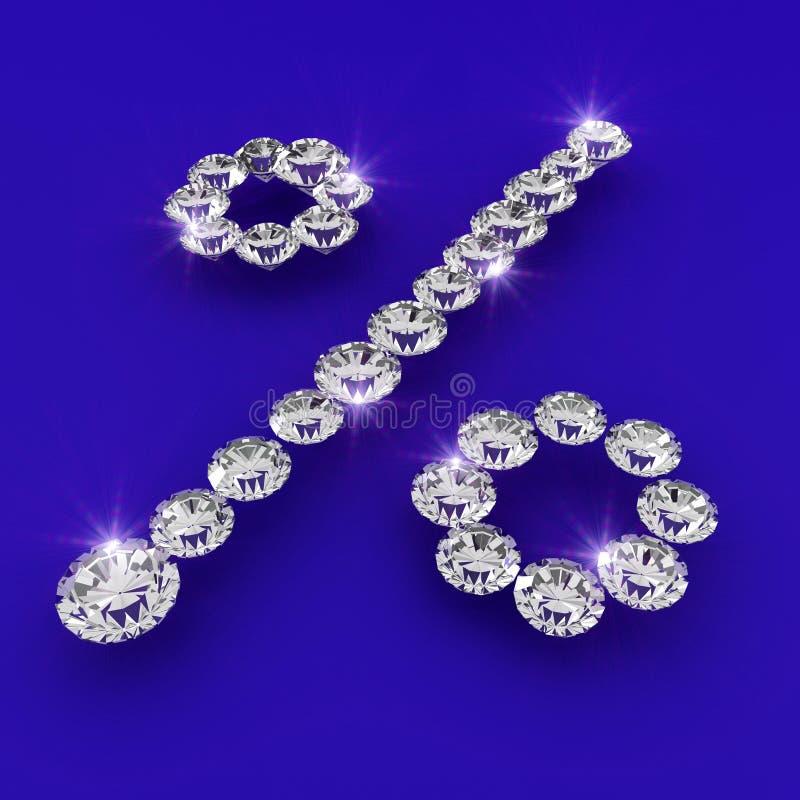 Ilustración del arte del diamante de la dimensión de una variable del tipo de interés stock de ilustración