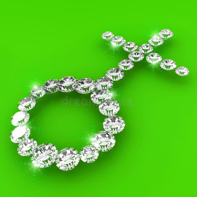 Ilustración del arte del diamante de la dimensión de una variable del tipo de interés ilustración del vector