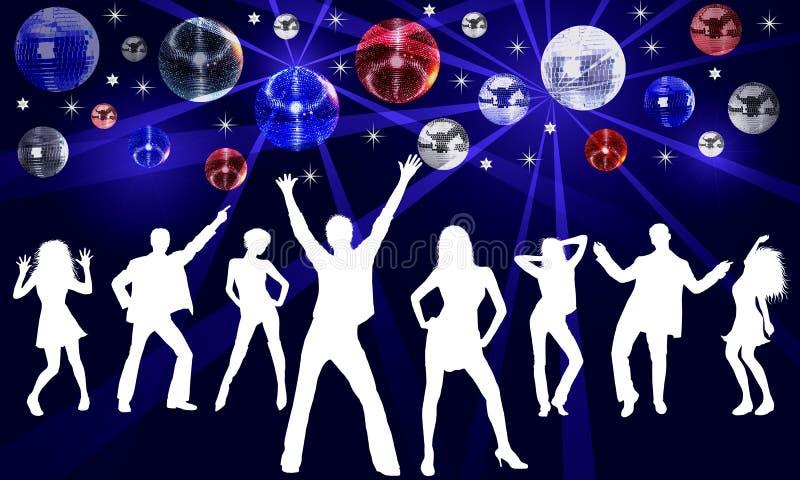 Ilustración del baile del disco libre illustration