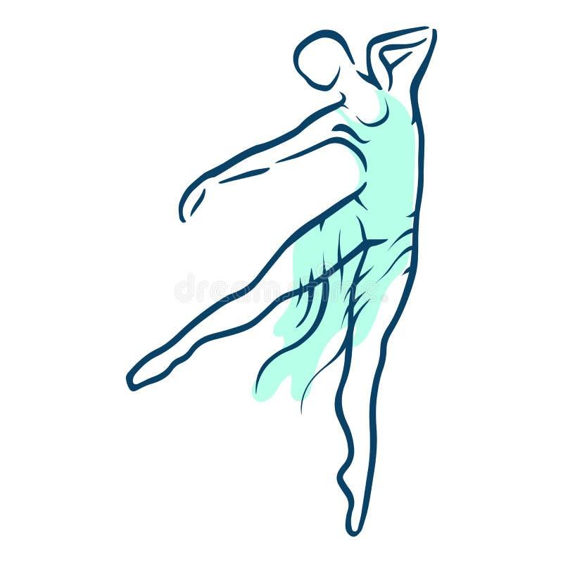 Ilustración del ballet dancer ilustración del vector