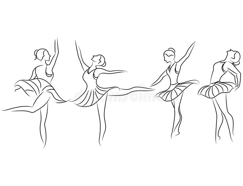 Ilustración del ballet dancer libre illustration