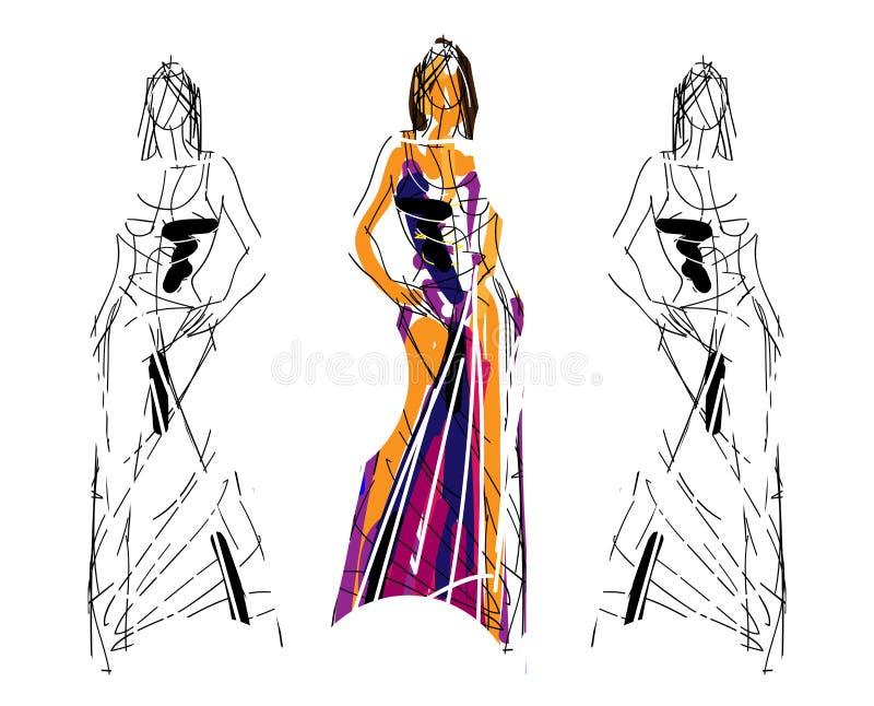 Ilustración del bosquejo de la manera libre illustration