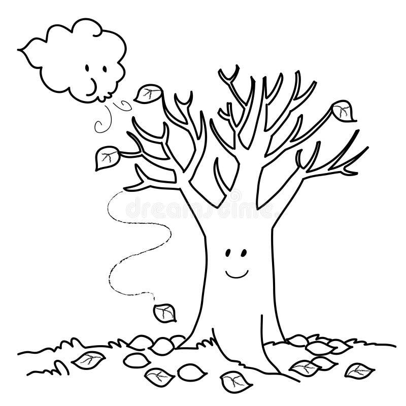 Ilustración del bw del otoño libre illustration