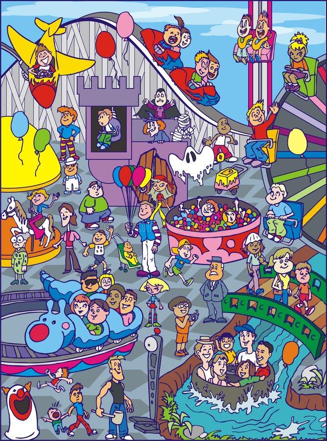 Ilustración del carnaval ilustración del vector