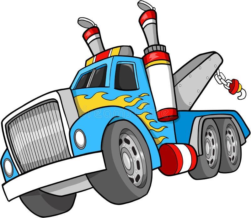 Ilustración del carro de remolque ilustración del vector