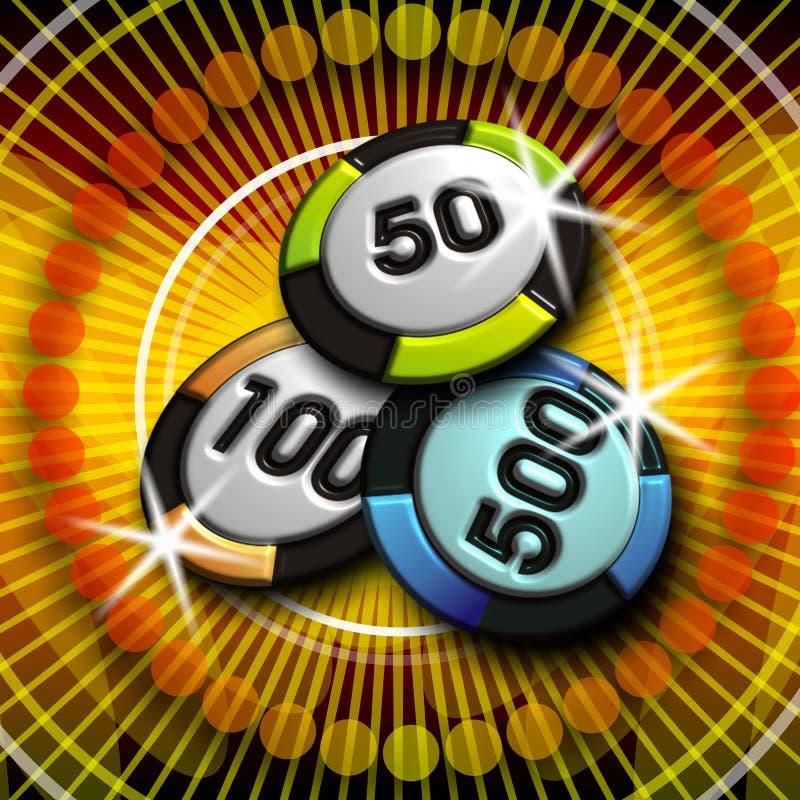 Ilustración del casino con los símbolos libre illustration