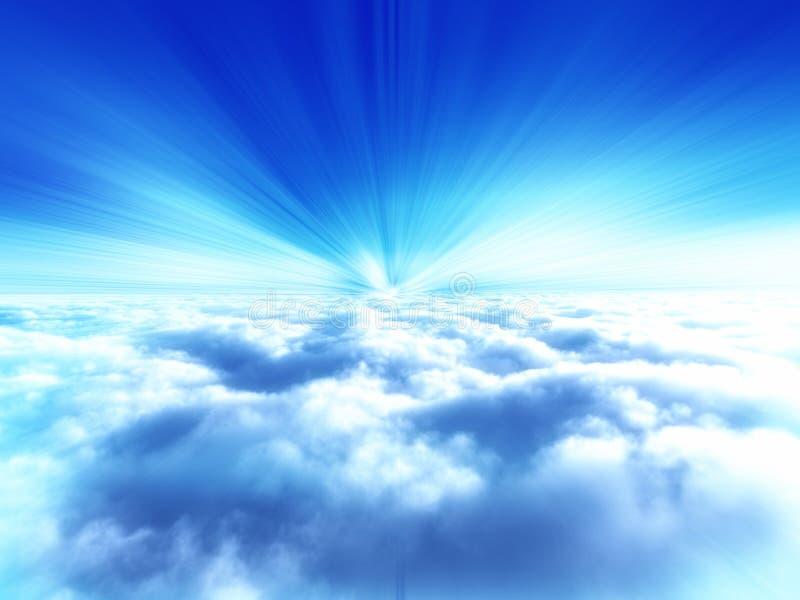Ilustración del cielo de la nube ilustración del vector