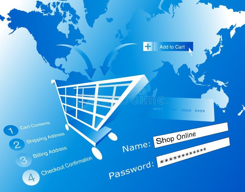 Ilustración del comercio electrónico stock de ilustración