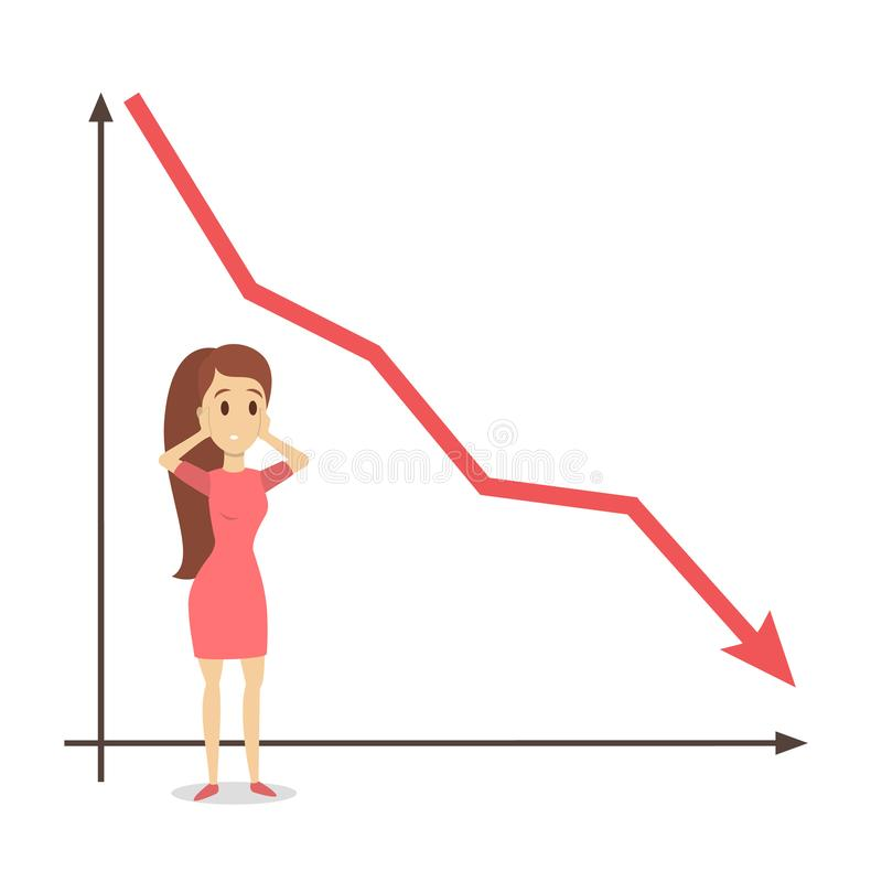 ilustración del concepto de la crisis financiera ilustración del vector