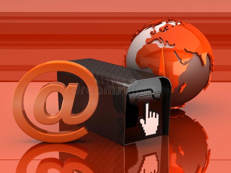 Ilustración del concepto del email stock de ilustración