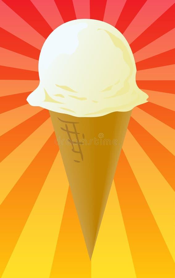 Ilustración del cono de helado stock de ilustración