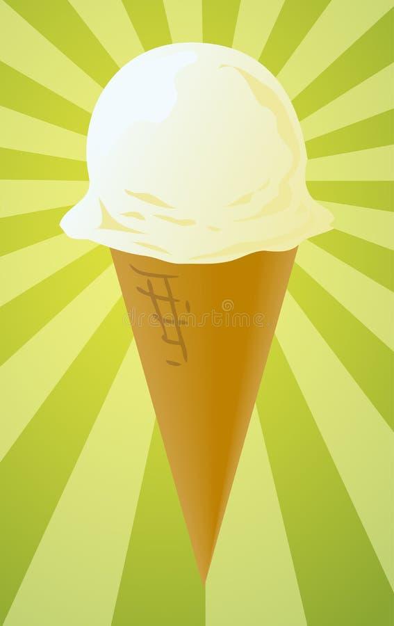 Ilustración del cono de helado libre illustration