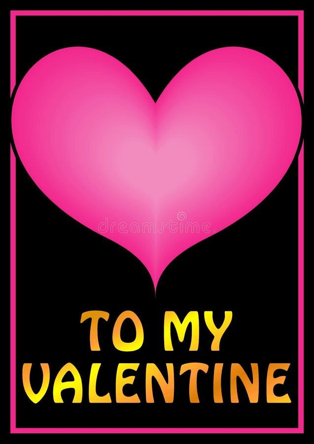 Ilustración del corazón de las tarjetas del día de San Valentín fotos de archivo libres de regalías