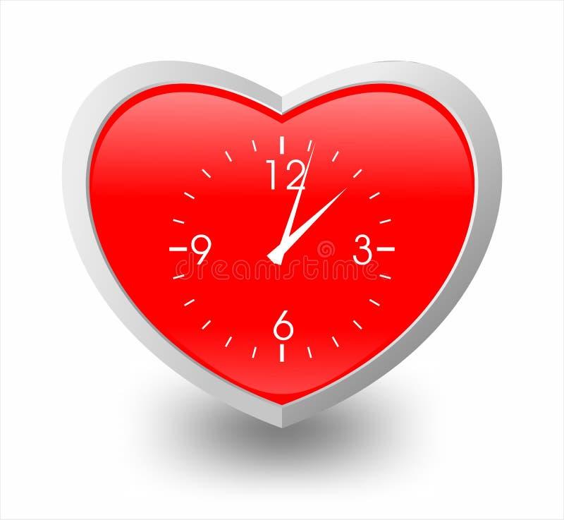 Ilustración del corazón y del reloj imágenes de archivo libres de regalías