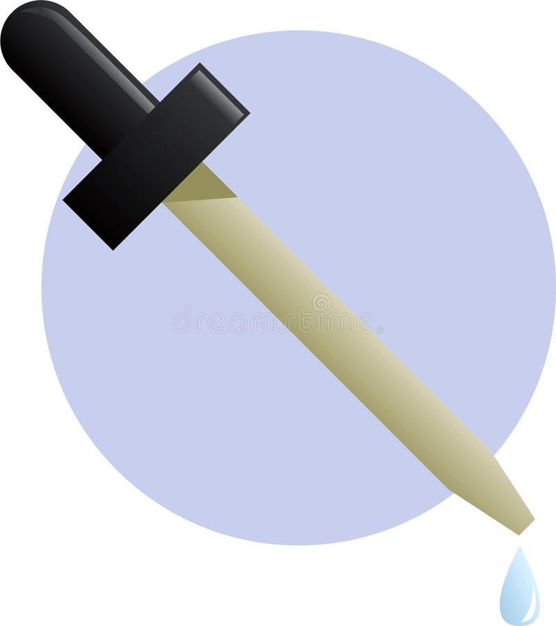 Ilustración del cuentagotas o del eyedropper stock de ilustración