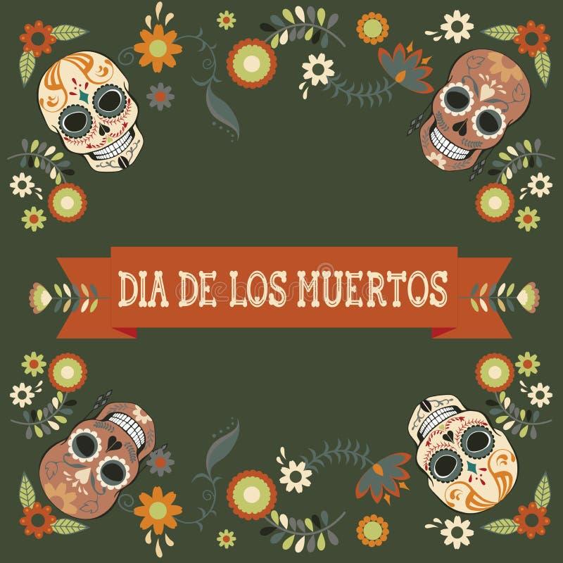 Ilustración del Día de los Muertos en México imagen de archivo libre de regalías