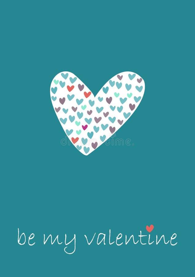 Ilustración del día de tarjetas del día de San Valentín ilustración del vector