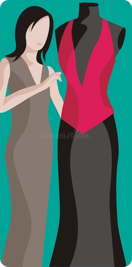 Ilustración del diseñador de moda stock de ilustración