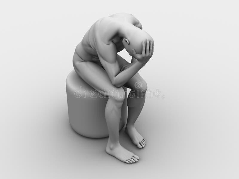 Ilustración del dolor de cabeza/de la jaqueca ilustración del vector