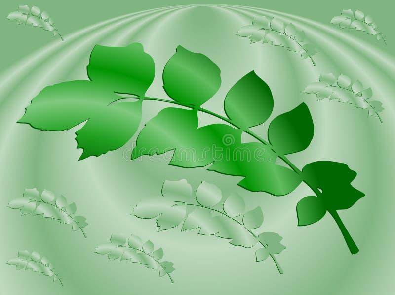 Ilustración del fondo con las hojas foto de archivo libre de regalías