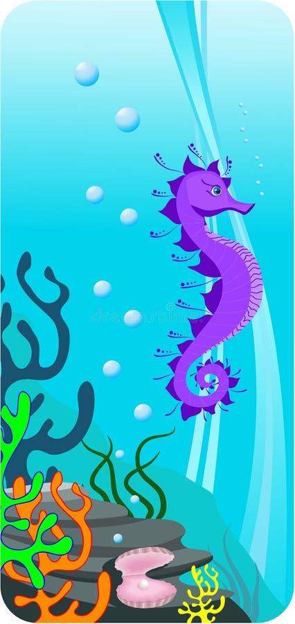 ilustración del fondo del mar ilustración del vector