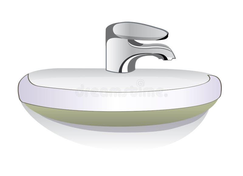 Ilustración del fregadero del cuarto de baño ilustración del vector