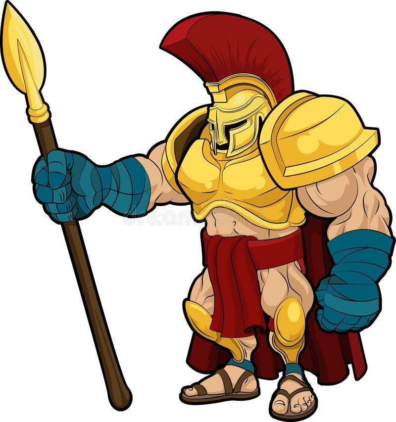 Ilustración del gladiador espartano libre illustration