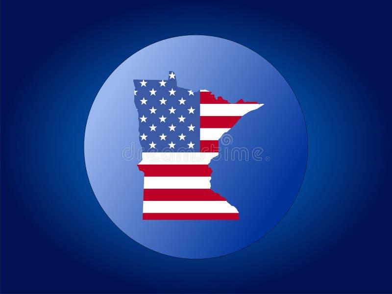 Ilustración del globo de Minnesota stock de ilustración