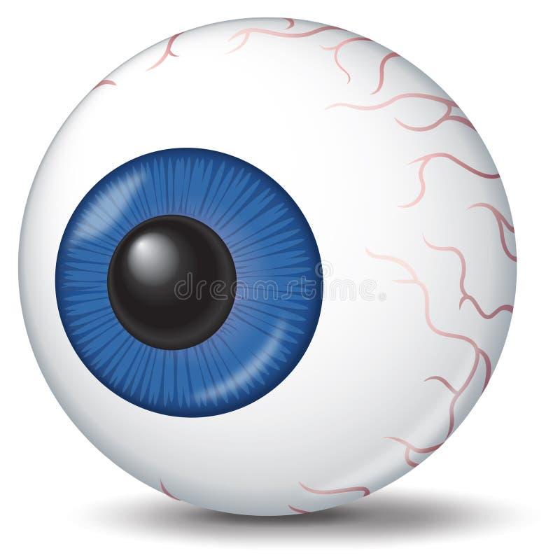 Ilustración del globo del ojo stock de ilustración