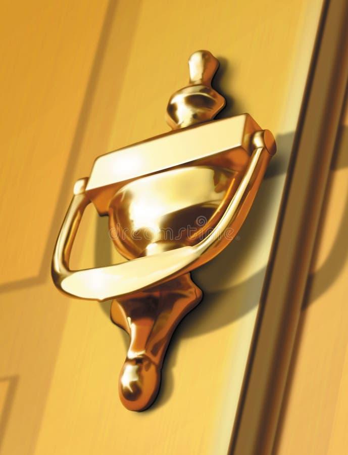 Ilustración del golpeador de puerta imagen de archivo libre de regalías