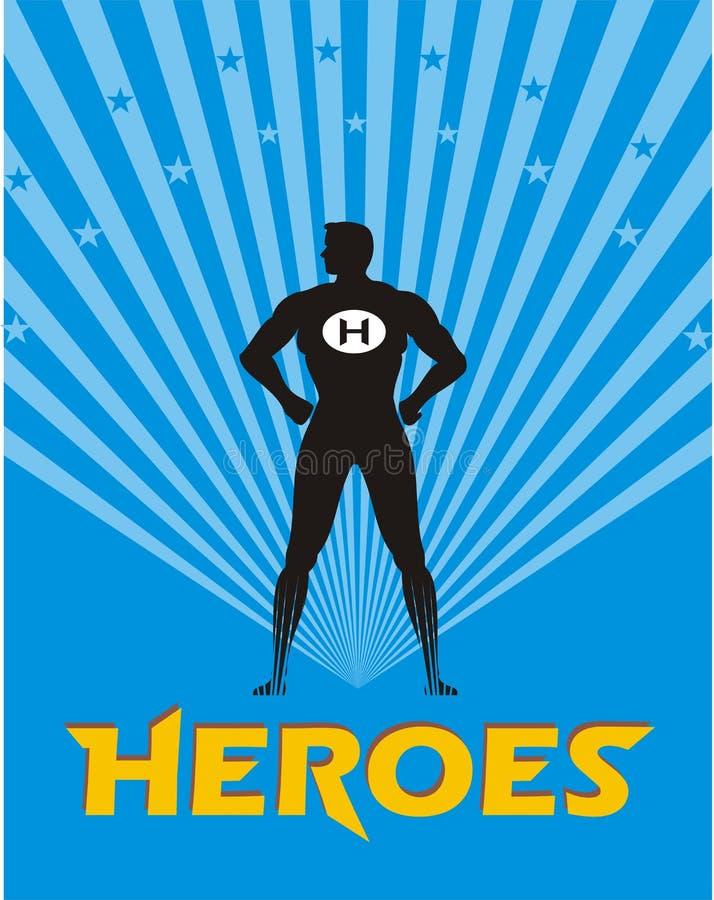 Ilustración del héroe ilustración del vector