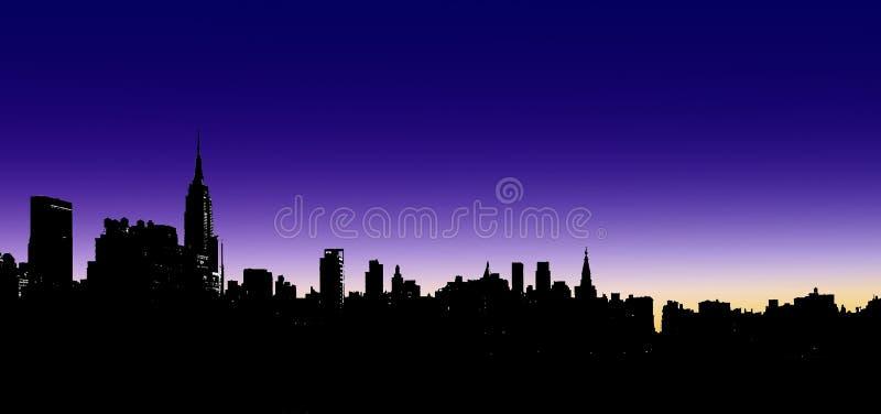 Ilustración del horizonte de la ciudad imagenes de archivo