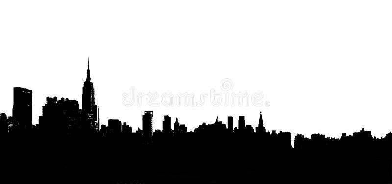 Ilustración del horizonte de la ciudad imagen de archivo