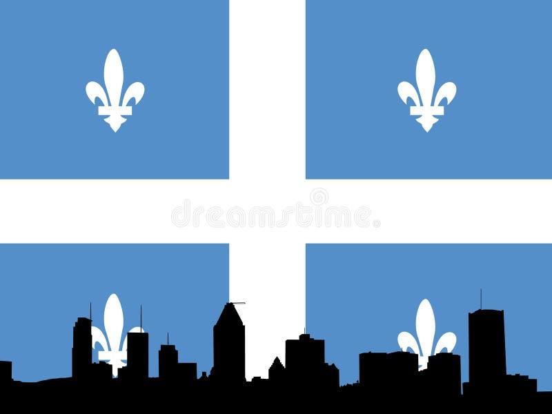 Ilustración del horizonte de Montreal stock de ilustración