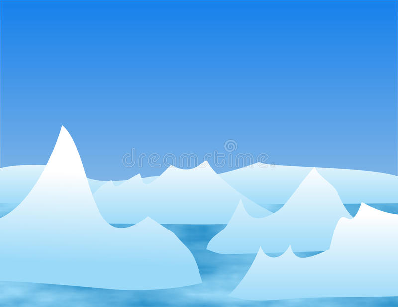 Ilustración del iceberg ilustración del vector