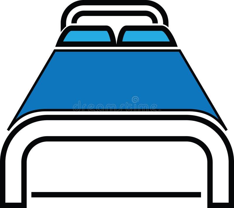 Ilustración del icono de la cama stock de ilustración
