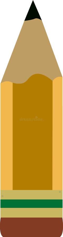 Ilustración del lápiz. ilustración del vector