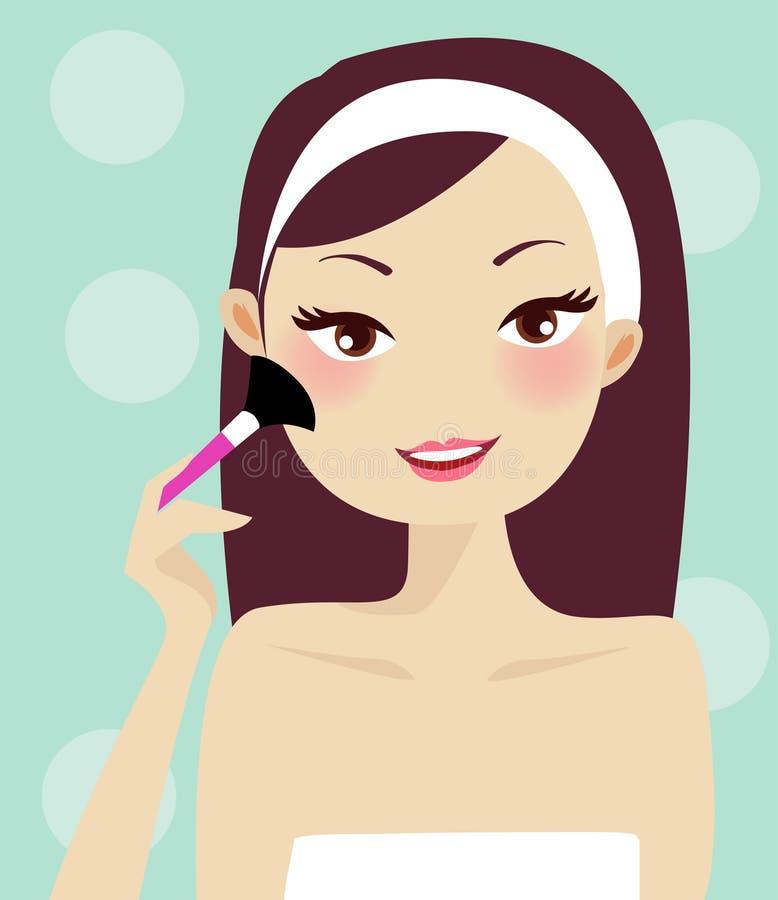 Ilustración del maquillaje stock de ilustración