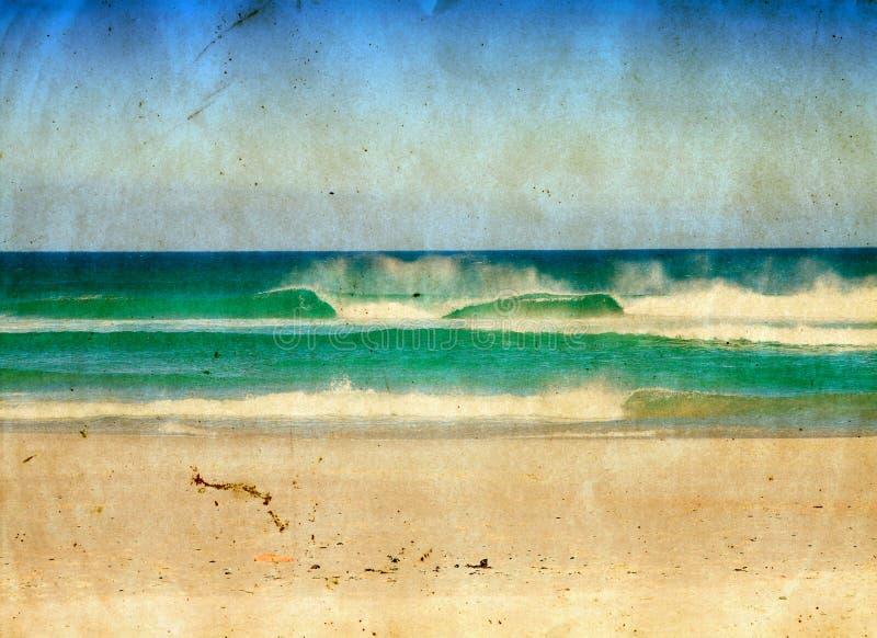 Ilustración del mar de Grunge. stock de ilustración