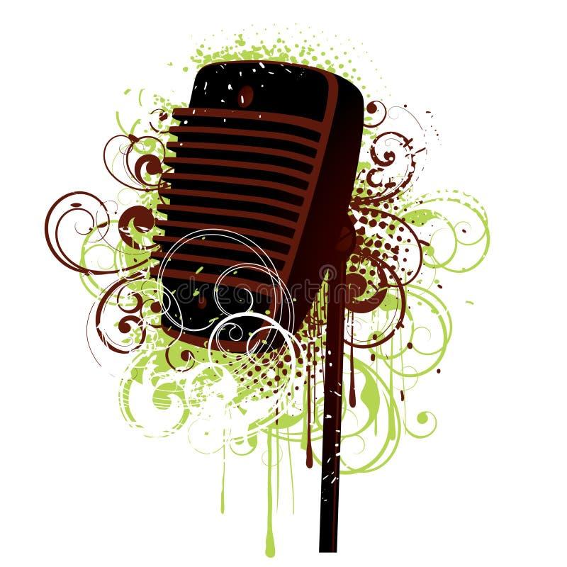 Ilustración del micrófono ilustración del vector