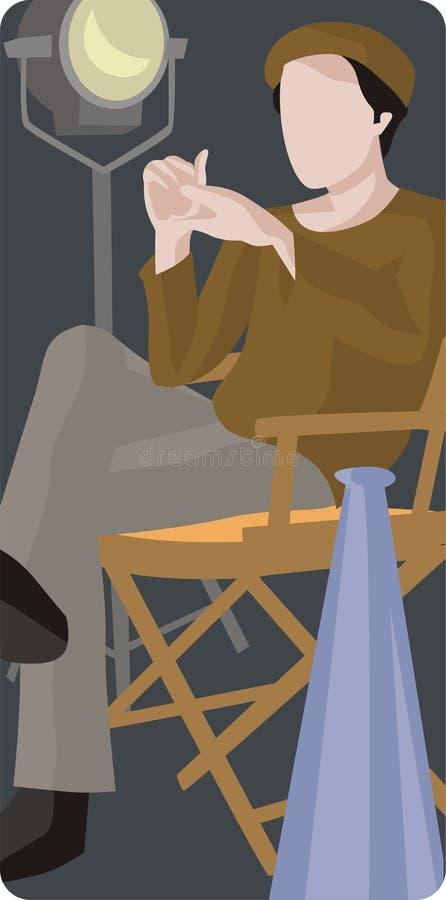 Ilustración del productor de película libre illustration