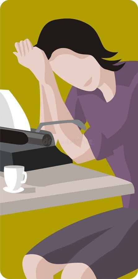 Ilustración del programa de escritura ilustración del vector