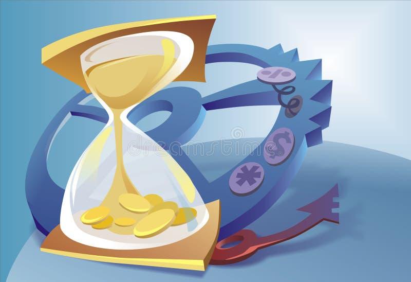 Ilustración del reloj de la arena ilustración del vector