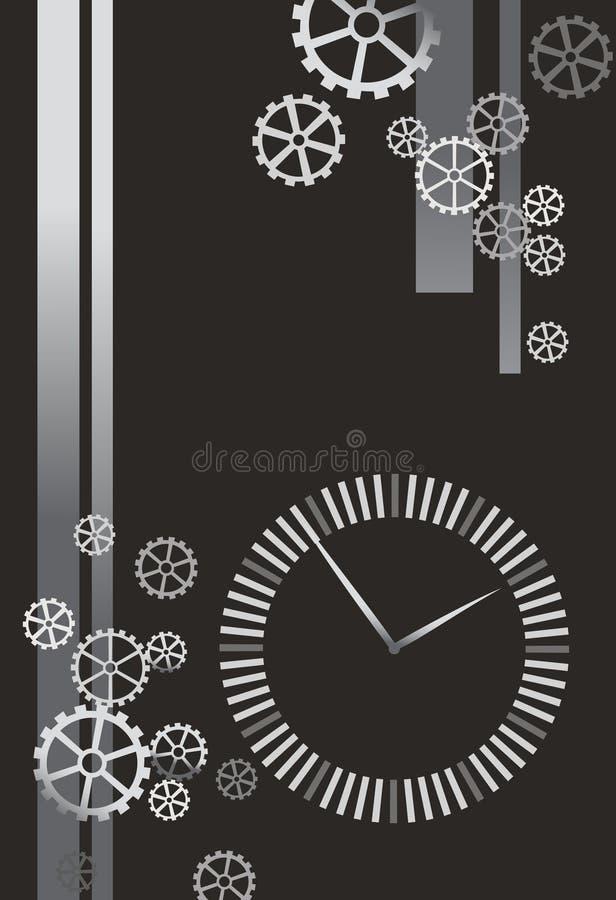 Ilustración del reloj y de los engranajes libre illustration
