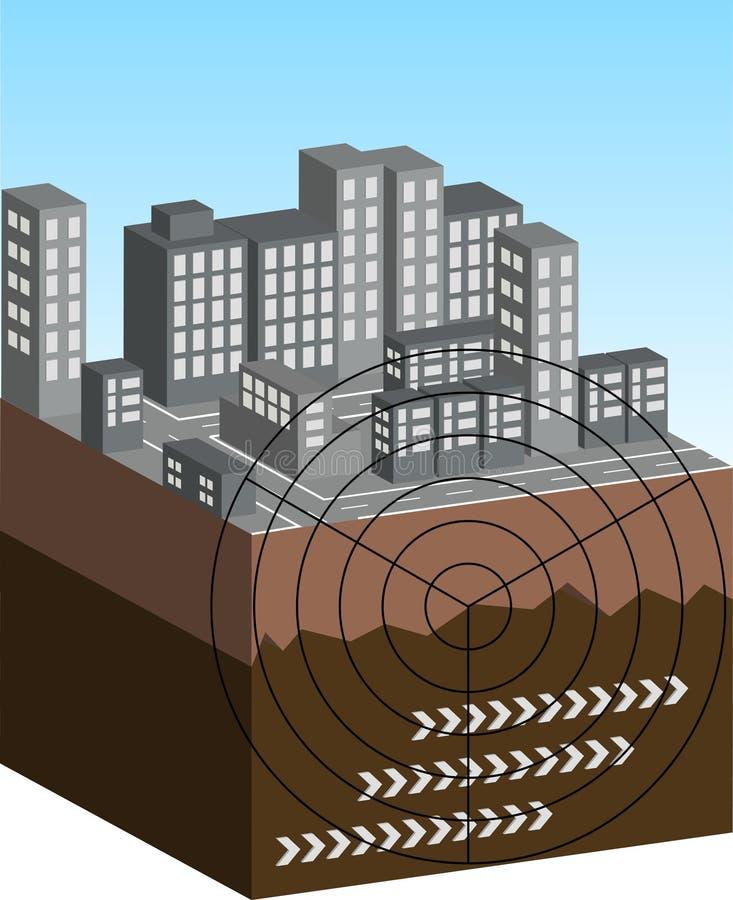 Ilustración del terremoto ilustración del vector