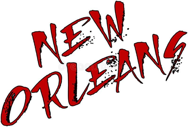 Ilustración del texto de New Orleans stock de ilustración