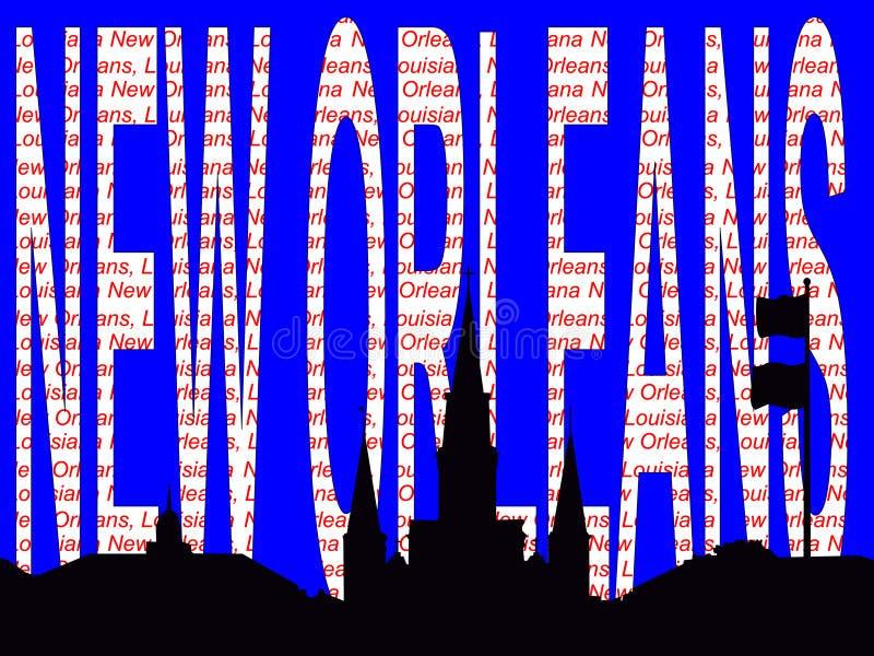 Ilustración del texto de New Orleans ilustración del vector