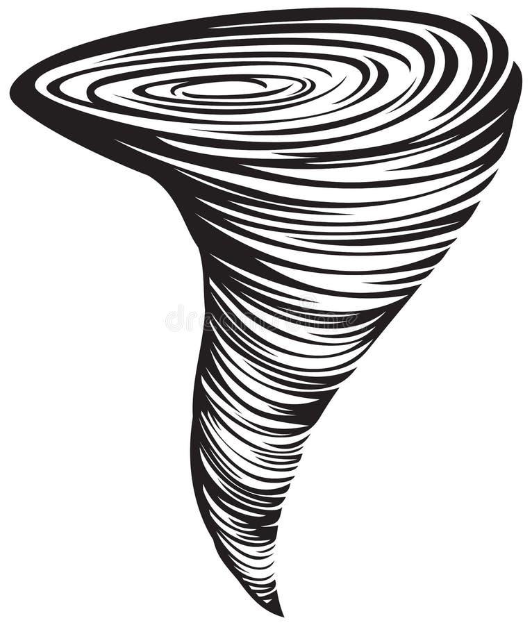 Ilustración del tornado libre illustration