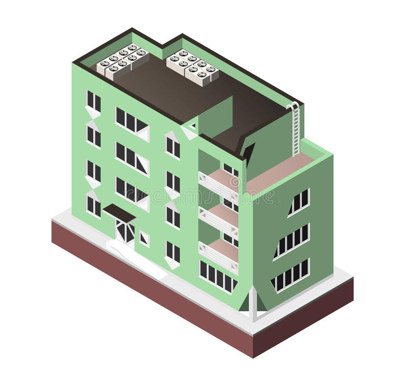 Ilustraci n del vector aislada en el fondo blanco icono for Casa moderna vector
