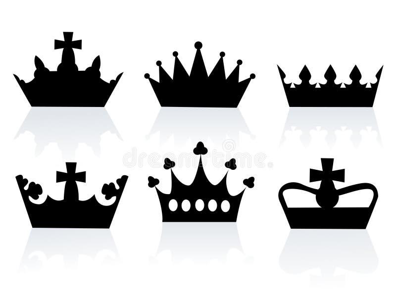 Ilustración del vector de diversas coronas ilustración del vector